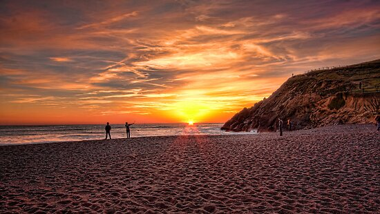 Sunset at Rodeo Beach, Marin Headlands by Don Claybrook