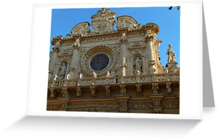 façade of the basilica di Santa Croce by supergold