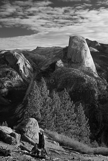 Half Dome from Glacier Point, Yosemite National Park. by Justin Foulkes