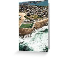 Newcastle Aerial View Greeting Card