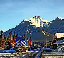 Rocky transportation in Banff, Alberta by Christopher B Smyth