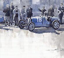 Bugatti 35C Monaco GP 1930 Louis Chiron  by Yuriy Shevchuk