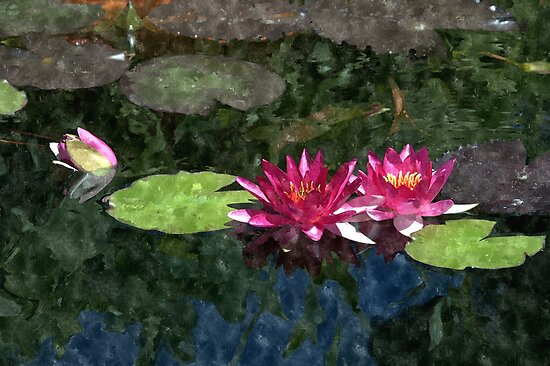 Red Lilies - Mission San Juan Capistrano by keng612