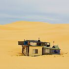 House in the middle of sand dunes - Port Stephens by Leonardo Tarjadi