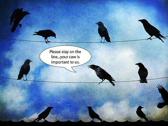 Please stay on the line.... by Rookwood Studio ©