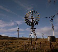 wind farm verses wind mill by fazza