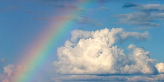 Cloud and Rainbow - Dunrobin Ontario by Debbie Pinard