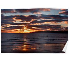 Filey bay 8am Poster