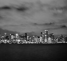 Chicago Skyline by HeatherMScholl