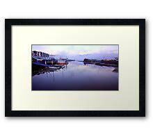 """Seaport from the Bridge"" Framed Print"