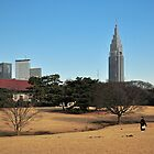Meiji Jingu with Harajuku Skyscrapers in the Background by S T