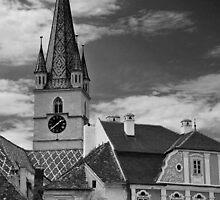 View of Sibiu (Hermannstadt), Romania by irinao