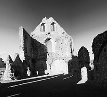 Boxgrove Priory, Guest House Ruins by Dave Godden