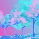 Luminous Pastel Trees by TedReeder