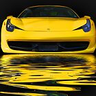 Yellow Ferrari by Luke Griffin