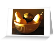 Acorn & Butternut Squash Still Life In Yellow Bowl Greeting Card