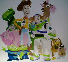 Toy Story wall mural by Smogmonkey