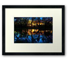 Beddington Park Pond Framed Print