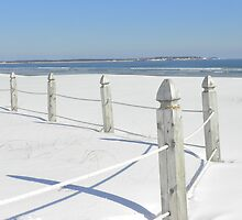 Snow at Old Orchard Beach by quiltmaker