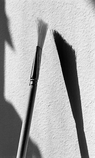 Paint Brush With Shadow  by Lisa Diamond