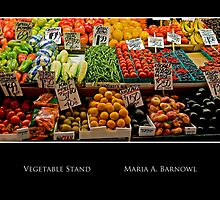 Vegetable Stand - - Posters & More by Maria A. Barnowl
