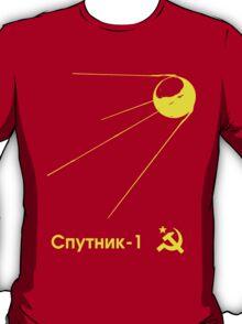 Sputnik-1 Satellite 1957 T-Shirt (dark) T-Shirt
