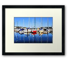 Marina Blue Reflection One Framed Print