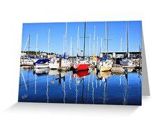 Marina Blue Reflection One Greeting Card