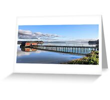 Coupeville Wharf with Boats Greeting Card