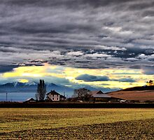 Ebey Prairie Sunset by Rick Lawler