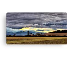 Ebey Prairie Sunset Canvas Print