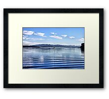 Upon the Gentle Waves Framed Print