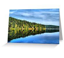 Pass Lake Fall Reflection Three Greeting Card