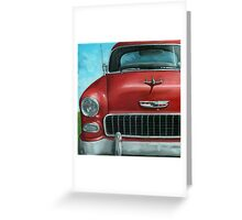 55' Chevy Vintage Car oil painting Greeting Card