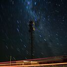 Microwave Repeater Lillimur Star Trail + Iridium Flare by Murray Wills