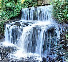 Eller Beck Waterfall, For Irene....... by Sandra Cockayne