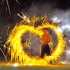 fire juggling by jomtien
