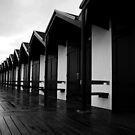 Bridlington beach huts by Andy Beattie
