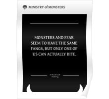Ministry of Monsters: A Message on Fear Poster