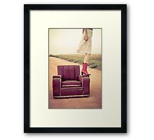 Kristel, that old chair and a country road Framed Print
