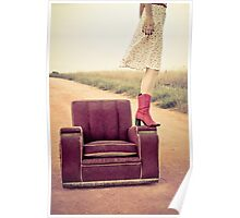 Kristel, that old chair and a country road Poster
