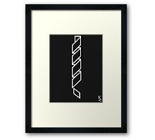 Inverse Spiral Exclamation Point Framed Print