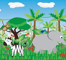 Animals in the Jungle by NRGDesign