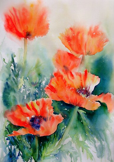 Popping Poppies by Ruth S Harris