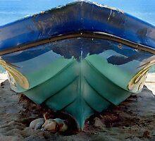its a hard life, dog asleep under beach boat, Sri Lanka by suellewellyn