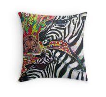 'Zebra Cool' Throw Pillow