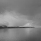 Gray Sky over Flathead Lake by Yacoub Hilweh