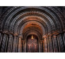 Entrance to the Masonic Temple Photographic Print