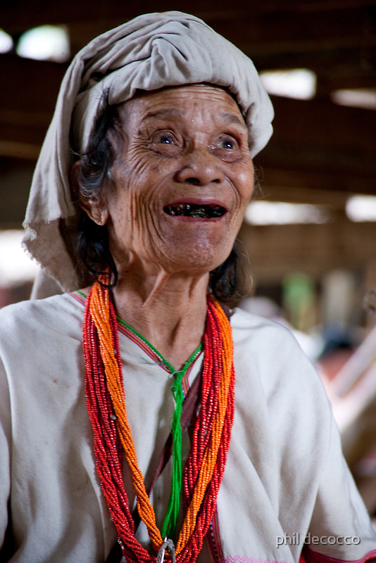 Happy Padaung Senior by phil decocco