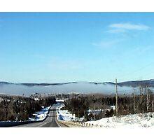 Winter Fog Phenomenon at -34C Photographic Print